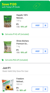 Screenshots - 1 Rupee Shopping App || 1 Rupee Store