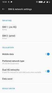 Screenshots - 2G 3G 4G Switch