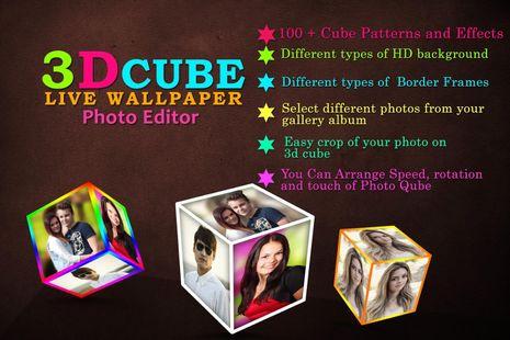 Screenshots - 3D Cube Live Wallpaper Photo Editor