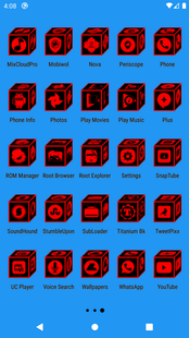 Screenshots - 3D Icon Pack Flat Red ✨Free✨