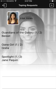 Screenshots - Actor App - Work Like a Pro