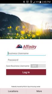 Screenshots - Affinity FCU Business Banking