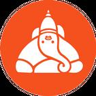 Akshar Ganesha - Lord Ganesha Name Art