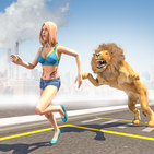 Angry Lion City Attack : Animal Hunting Simulator