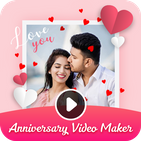 Anniversary Video Maker with Song & Music