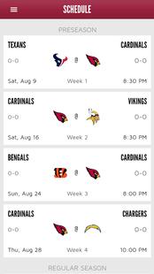 Screenshots - Arizona Cardinals Mobile