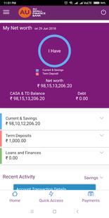Screenshots - AU BANK