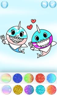 Screenshots - Baby Shark Coloring Book Glitter