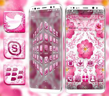 Screenshots - Beautiful Pink Flower Launcher Theme