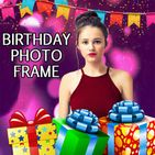birthday photo frame with text