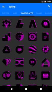 Screenshots - Black and Purple Icon Pack ✨Free✨