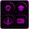 Black and Purple Icon Pack ✨Free✨