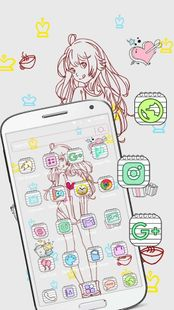 Screenshots - Black and white anime girl wallpaper theme