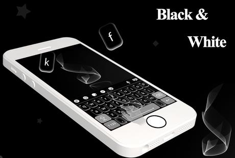 Screenshots - Black and White Keyboard Theme