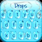 Blue 3d Waterdrops Keyboard Theme