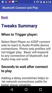 Screenshots - Bluetooth connect & Play