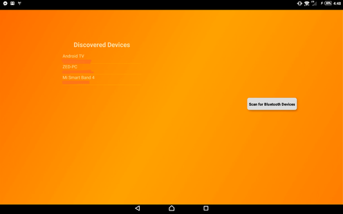 Screenshots - Bluetooth Scanner for Android TV(donation)