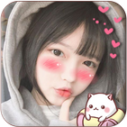 Blush: red cheeks, shy face, kawaii anime stickers