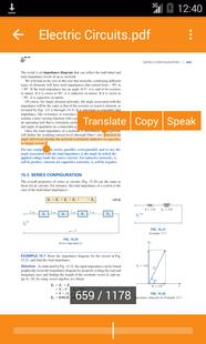 Screenshots - Book Reader with Translator