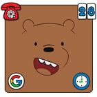 Brown Teddy Bear Cartoon Theme