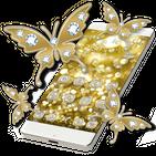 Butterflies Theme Gold Glitter Launcher