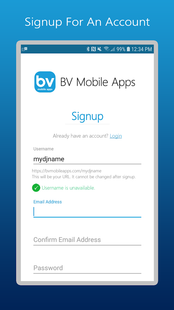Screenshots - BV Mobile Apps