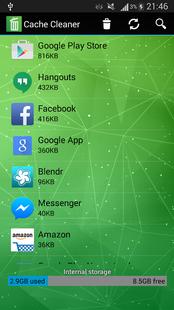 Screenshots - Cache Cleaner