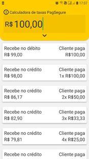 Screenshots - Calculadora de taxas PagSeguro