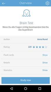 Screenshots - card2brain flashcards