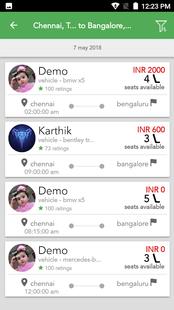 Screenshots - Carpooling Mobile App