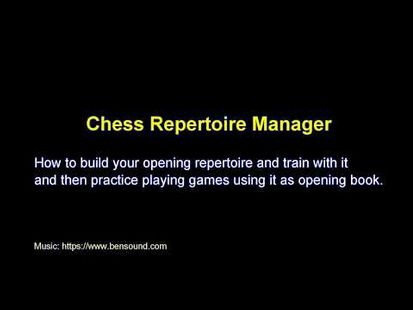 Video Image - Chess Repertoire Manager Free - Build, Train, Play