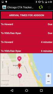 Screenshots - Chicago CTA Tracker GO