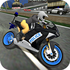 City Police MotorBike 3D Driving Simulator