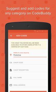 Screenshots - CodeBuddy - Cheat codes, shortcuts and hacks