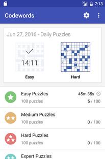 Screenshots - Codeword Puzzles (Crosswords)