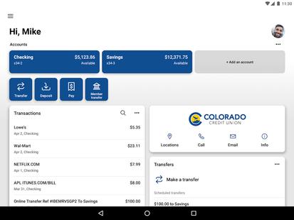Screenshots - ColoradoCU