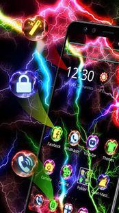 Screenshots - Colorful Neon Thunder Theme