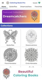 Screenshots - Coloring Book Pro - Adult Coloring Pages to Relax