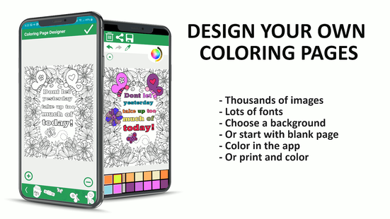 Screenshots - Coloring page maker - create your coloring pages