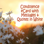 Condolence Cards with Messages & Quotes in White