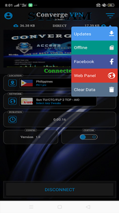 Screenshots - ConvergeVPN STREAM