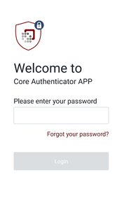 Screenshots - Core Authenticator