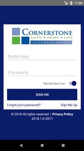 Screenshots - Cornerstone Insurance Online