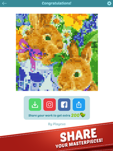 Screenshots - Cross Stitch - Color by Letters Pixel Art Game
