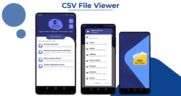 Screenshots - CSV File Viewer: CSV to pdf converter