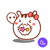 Cute baby xixi -APUS Launcher theme