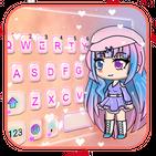 Cute Cartoon Girl Keyboard Theme