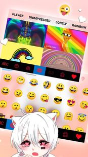 Screenshots - Cute Cat Boy Keyboard Theme