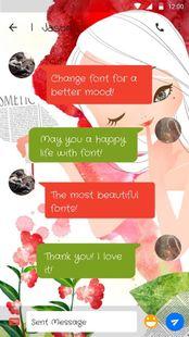 Screenshots - Cute Girls Font for FlipFont ,Cool Fonts Text Free
