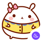 Cute lovely Rabbit-APUS Launcher theme